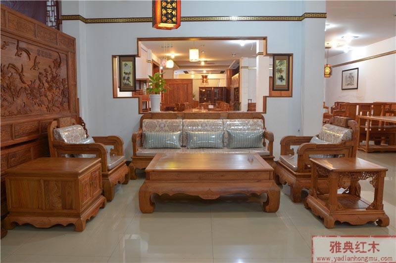 沙发/品牌:雅典红木家具 材质:缅甸花梨木 类别:客厅系列热度:470